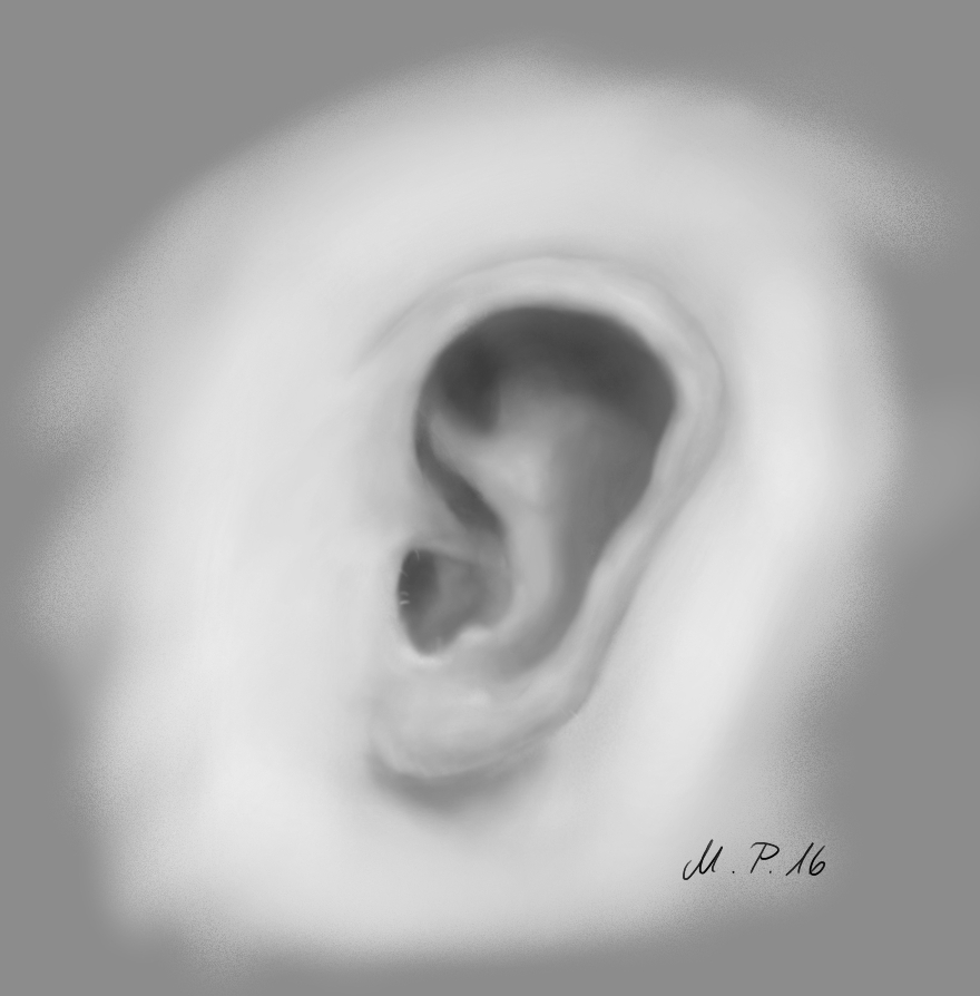 Painting an ear with Krita