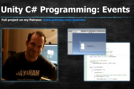 Programming C# with Unity: Events and delegates