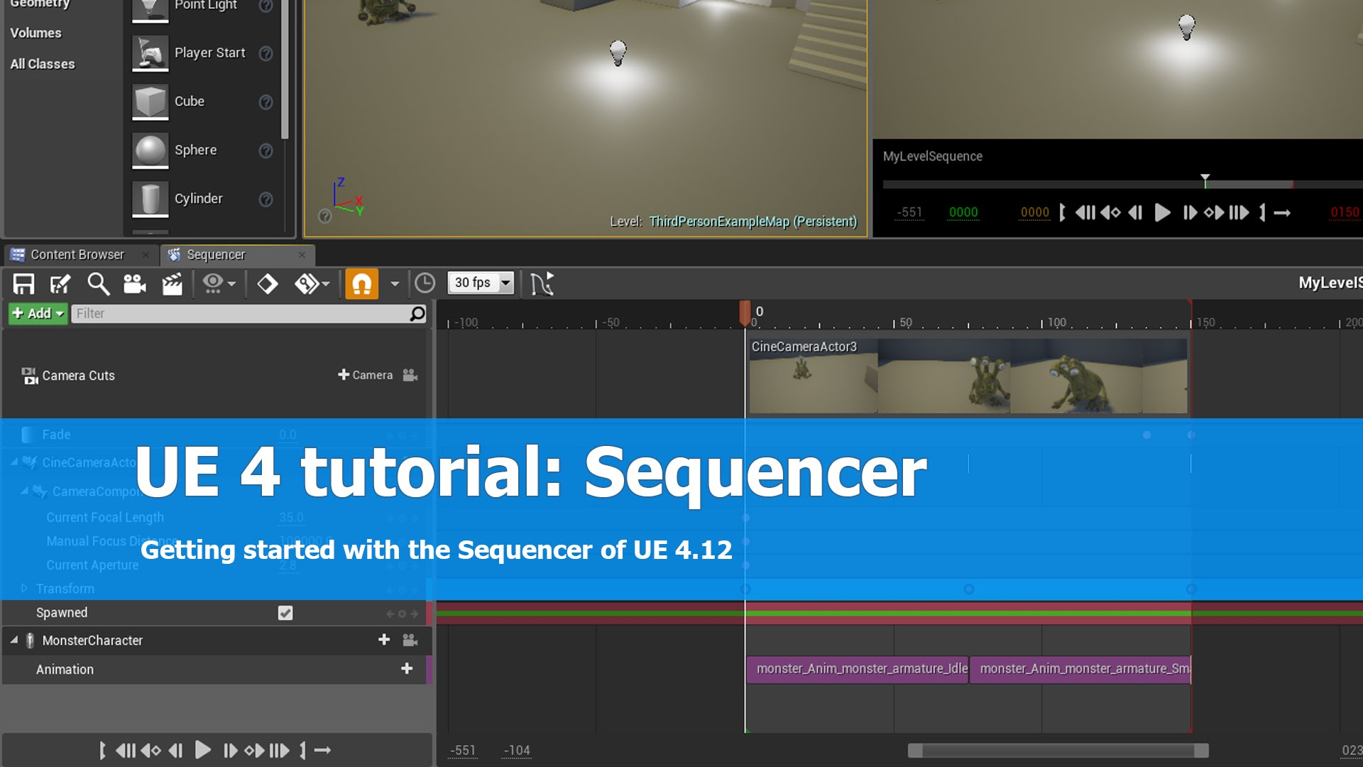 UE 4 tutorial: Sequencer