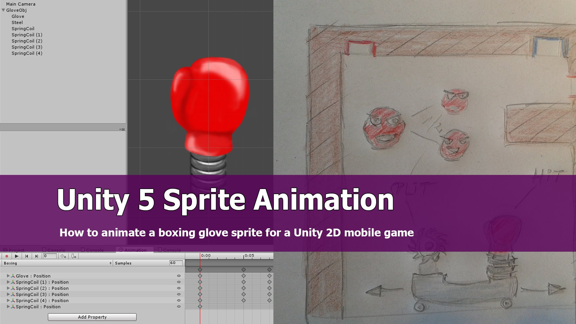 unity 2d multiple sprite animation tutorial | jayanam - gamedev