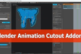 Blender cutout animation tools addon tutorials