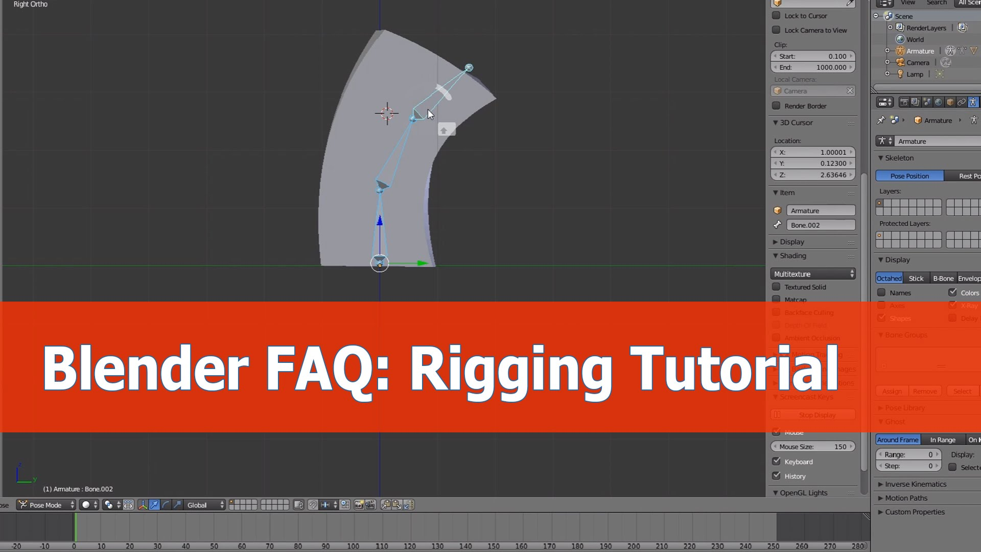 Blender rigging question and answer