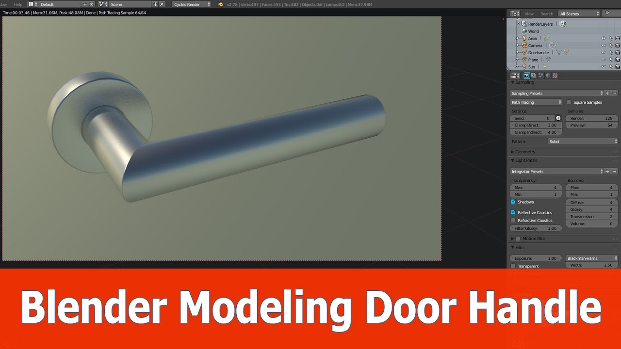 Blender Door modeling tutorial