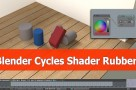 Rubber shader with Blender cycles