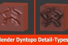Blender Dynamic topology : Detail Types.