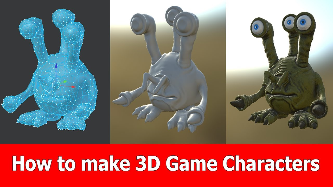 Game Design Tutorial Create D Game Characters JayAnAm Gamedev - Game design pictures